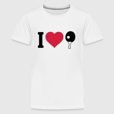 I love Tischtennis - Teenager Premium T-Shirt
