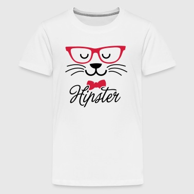 Swag hipsta hipster pussy cat animal style face - Teenager premium T-shirt