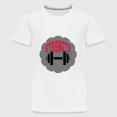Strength Training - Bodybuilding Fitness  Muscle - Teenage Premium T-Shirt