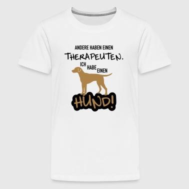 Therapie Hund - Teenager Premium T-Shirt