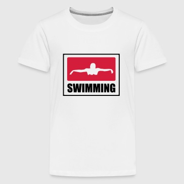 Swimming - Teenage Premium T-Shirt