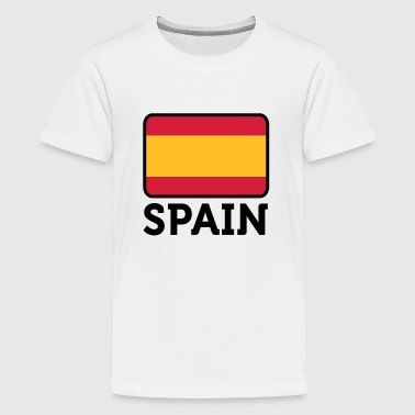 National Flag of Spain - Teinien premium t-paita