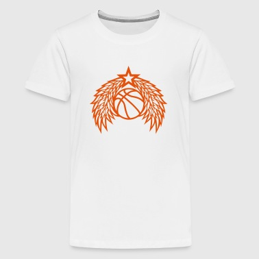 Basketball ball star wing logo - Teenage Premium T-Shirt