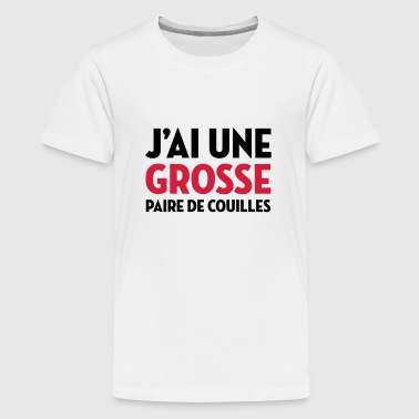 Paire de Couilles / Drague / Sexe / Courage - T-shirt Premium Ado