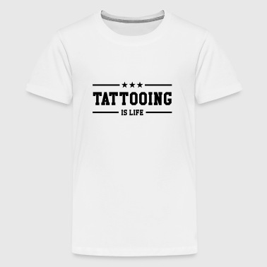 tatoeëerder / tekenen / Tattoo / Tattooist - Teenager Premium T-shirt