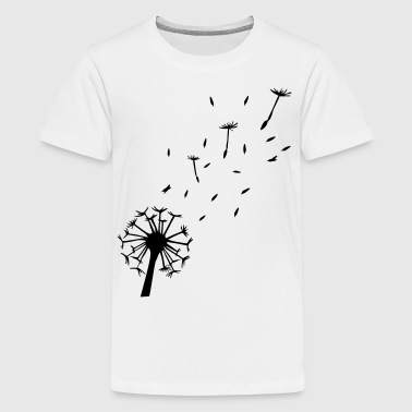 Flying Dandelion - Teenage Premium T-Shirt