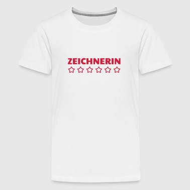 Zeichnung / Zeichner / Drawing / Drawer - Teenager Premium T-Shirt