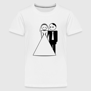 couple / wedding / mariage / bride and groom 1c - Teenager Premium T-Shirt