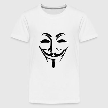 Anonymous Maske fawkes - Teenager Premium T-Shirt