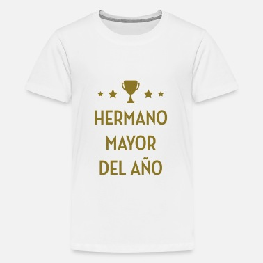 Hermano Mayor Hermano Mayor Nacimiento Bebé Papá Mamá - Camiseta premium adolescente
