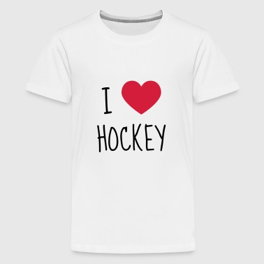Hockey - Cross - Eishockey - Skater - Ice Hockey - Teenage Premium T-Shirt
