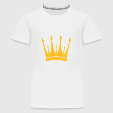 krona / kung / Crown / King - Premium-T-shirt tonåring