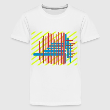 Abstrakt digital Art moderne Kunst Optiks - Teenager Premium T-Shirt