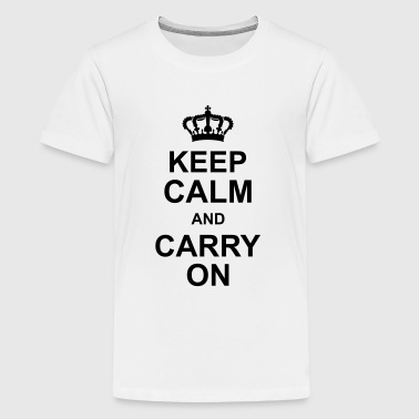 keep_calm_and_carry_on_g1 - Teenage Premium T-Shirt