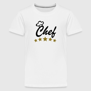 5 Stars Chef Cook Cooking Chef's Hat aprons - Teenage Premium T-Shirt