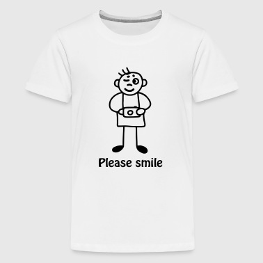 Photographer - please smile - Teenage Premium T-Shirt