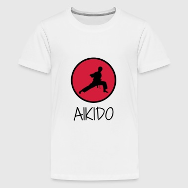 Aikido / Aikidoka / Martial art / Fight - Premium-T-shirt tonåring