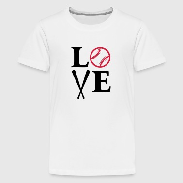 I love baseball. baseball ball  - Teenage Premium T-Shirt