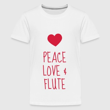 Flute - Flautist - Music - Musik - Musique - Teenage Premium T-Shirt