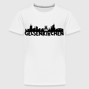 Gelsenkirchen Skyline - Teenager Premium T-Shirt