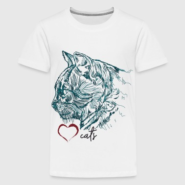 Cat face Cat Kitten Baby cat Stubentiger - Teenager Premium T-shirt