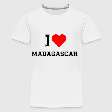 I love Madagascar - Teenager Premium T-Shirt