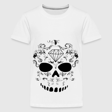Skelett Muster , Skull Template - Teenager Premium T-Shirt