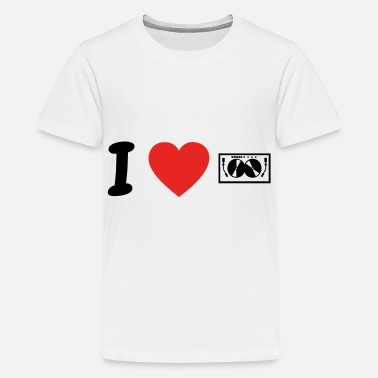 I Love Techno I Love Techno DJ ELECTRO png - Camiseta premium adolescente