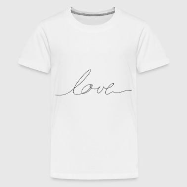 hand written love - Teenage Premium T-Shirt