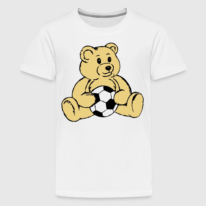 ourson football ballon - T-shirt Premium Ado