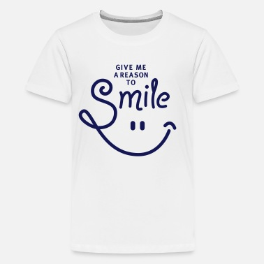 Lachgesicht smile - smiley - lachen - a reason to smile - 1C - Teenager Premium T-Shirt