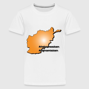 Afghanistan land kaart in 3D-stijl - Teenager Premium T-shirt