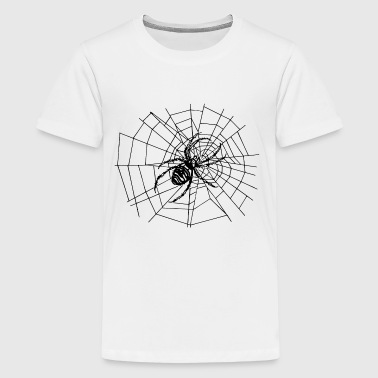 spider in the net - Teenage Premium T-Shirt