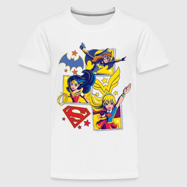 DC Super Hero Girls Batgirl Wonder Woman Supergirl - Premium-T-shirt tonåring
