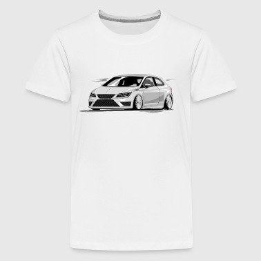 Leon 5f fr, Low, Deep, Stanced, Cupra - Teenager Premium T-Shirt