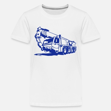 Mobile Crane Autokran, crane (1 color) - Teenage Premium T-Shirt