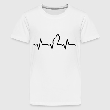 Cat heartbeat - Teenage Premium T-Shirt