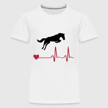 Caballo - Horse and heartbeat - Camiseta premium adolescente
