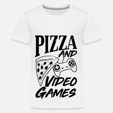 Pizza and Video Games - Teenager Premium T-Shirt