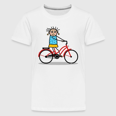 E-bike - damesfiets rood - Teenager Premium T-shirt