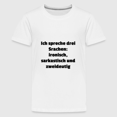 Sprachen - Teenager Premium T-Shirt