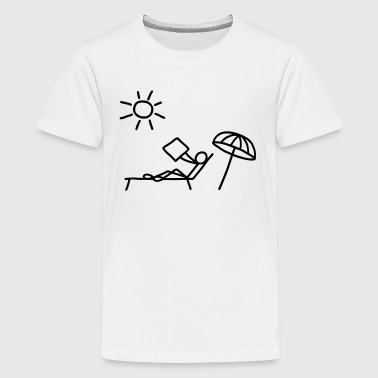 Read sunbathing & newspaper - Teenage Premium T-Shirt