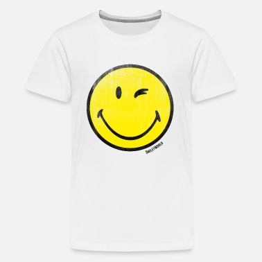SmileyWorld Classic Winking Smiley - Teenage Premium T-Shirt