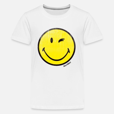 SmileyWorld Classic Winking Smiley - Teenager Premium T-shirt