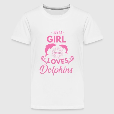 Just a girl who loves dolphins - Premium-T-shirt tonåring