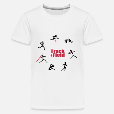 Jump Track & Field, Heptathlon - Teenage Premium T-Shirt