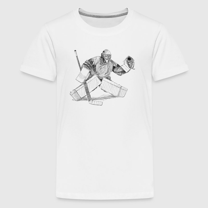 Eishockey torwart - Teenager Premium T-Shirt