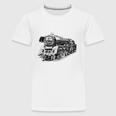 steam locomotive - Teinien premium t-paita
