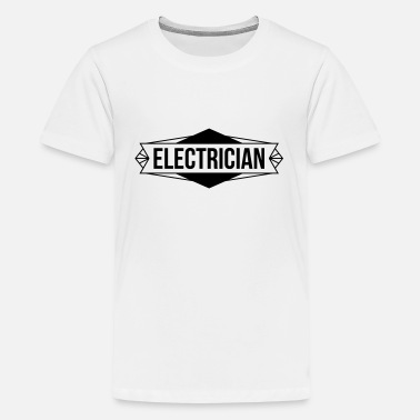 Electric Bike Electrician / Electricity / Electricien / Electric - Teenage Premium T-Shirt