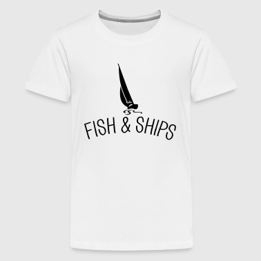 Fish and Ships Segelboot - Teenager Premium T-Shirt